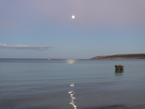 Moon in emu Bay by Inga Schroeder.