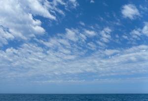 High cloudy skies.