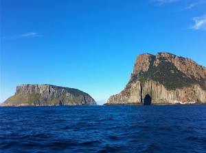 Cape Pillar & Tasman Island, I passed between them.