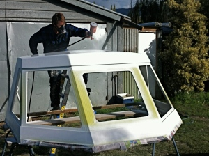 Applying base coat