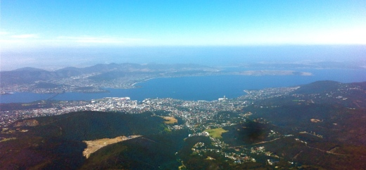 Hobart from Mt Wellington.